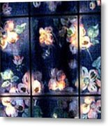 Faded Dogwood Window Dressing Metal Print