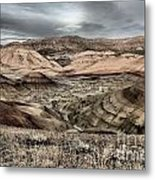 Faded Painted Hills Metal Print