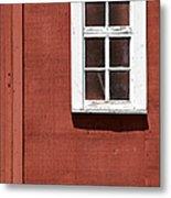 Faded Red Wood Farm Barn Metal Print