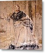 Faded Religious Mural Mexico Metal Print