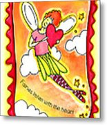 Fairies Litsten With The Heart  Metal Print