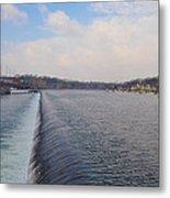 Fairmount Dam And Boathouse Row - Philadelphia Metal Print