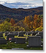 Fairview Cemetery In Autumn Metal Print