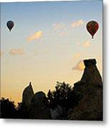 Fairy Chimneys And Balloons Metal Print