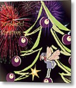 Fairy Christmas Metal Print