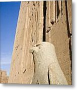 Falcon Statue At Edfu Metal Print by Darcy Michaelchuk