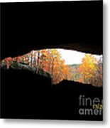 Fall At The Cave Metal Print