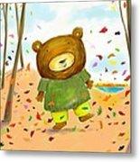 Fall Bear Metal Print