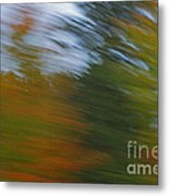 Fall Blur Metal Print