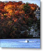 Fall Boating At Starved Rock Metal Print