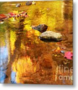 Fall Color In Stream Metal Print
