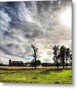 Fall Farm View Metal Print by Dan Crosby