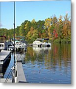 Fall Fishing Break Metal Print