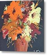 Fall Flower Arrangement 1 Metal Print