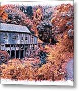 Fall Grist Mill Metal Print