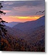 Fall Sunset Metal Print by Charles Warren