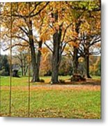 Fall Swing Metal Print by Jennifer Compton