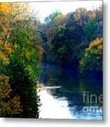 Fall Time Creek Metal Print