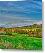 Fall Vermont Farm Metal Print by Mike Horvath