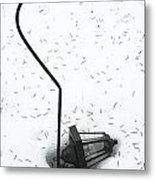 Fallen Lamplight In Snow Metal Print
