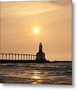 Falling On The Lighthouse Metal Print