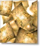 Falling Paper Documents, Artwork Metal Print
