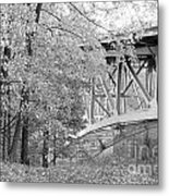 Falling Under The Bridge Metal Print
