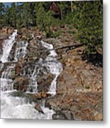 Falling Water Glen Alpine Falls Metal Print