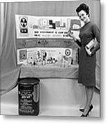 Fallout Shelter Supplies, Usa, Cold War Metal Print