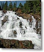 Falls Glen Alpine Falls Tahoe Metal Print