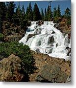 Falls In Site Glen Alpine Falls Metal Print