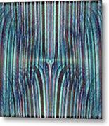 Falls Of Blue Metal Print