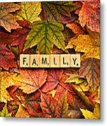 Family-autumn Inpsireme Metal Print