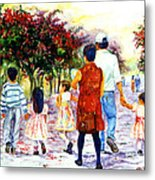 Family Love Union Familiar Metal Print