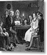 Family Reading, 1840 Metal Print