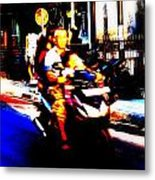 Family Ride In Bali Metal Print