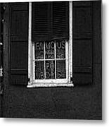 Famous New Orleans Po Boys Neon Window Sign Black And White Poster Edges Digital Art Metal Print