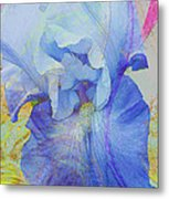 Fanciful Flowers - Iris Metal Print