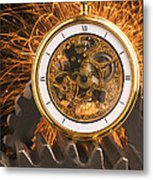 Fancy Pocketwatch On Gears Metal Print