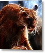 Fantasy Cougar Metal Print by Paul Ward
