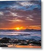 Farewell To Autumn Sun Metal Print