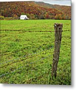 Farm Fence Metal Print