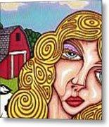 Farm Girl Metal Print