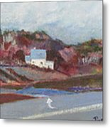 Farm House Cut Off Of Route 5 Metal Print by Betty Pieper