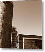 Farm In History Metal Print