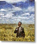 Farm Life - A Good Crop Metal Print