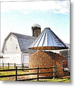 Farm Life Metal Print by Todd Hostetter