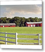 Farm Pasture Metal Print by Brian Wallace