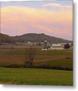 Farm Scene From Knoll On Rt. 41  Metal Print
