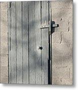 Farm Shed Door Metal Print